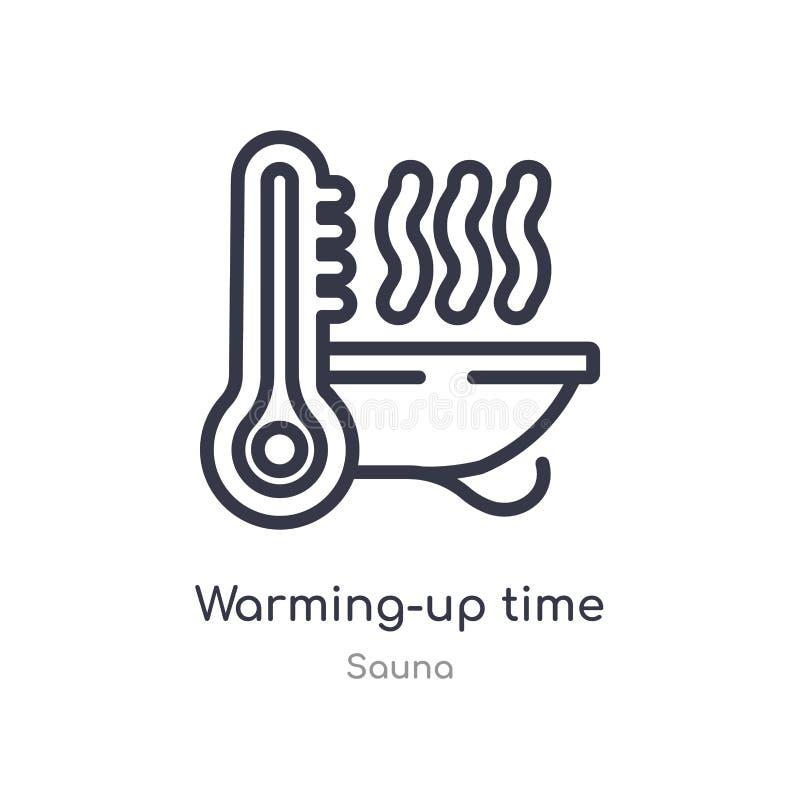 ícone do esboço do tempo do aquecimento linha isolada ilustra??o do vetor da cole??o da sauna ícone fino editável do tempo do aqu ilustração do vetor