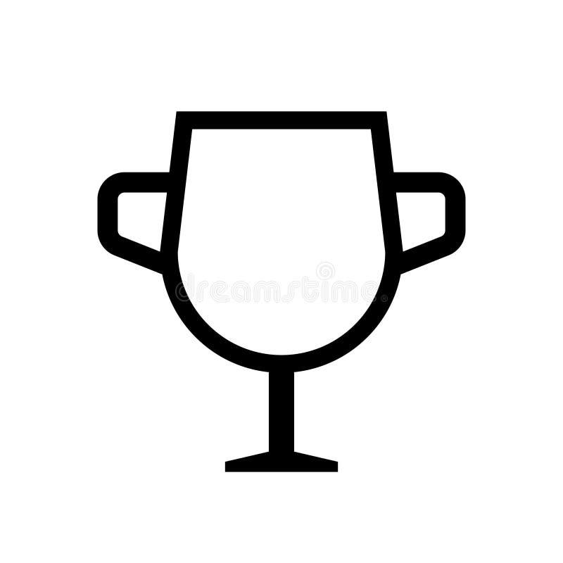 Ícone do esboço do troféu do copo do ouro ilustração do vetor