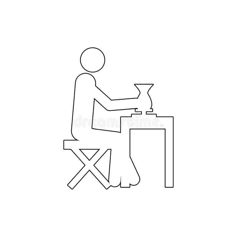 ícone do escultor Elemento da segurança do cyber para o conceito e o ícone móveis dos apps da Web Linha fina ícone para o projeto ilustração stock