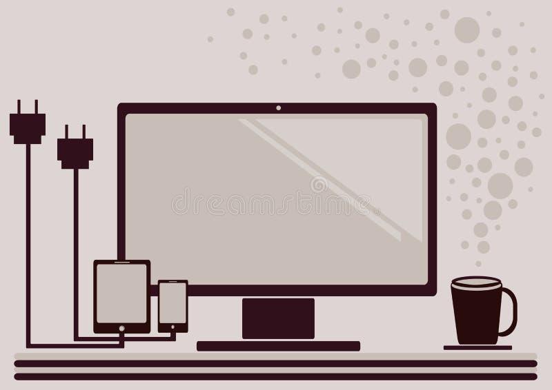 Ícone do espaço de trabalho ilustração royalty free