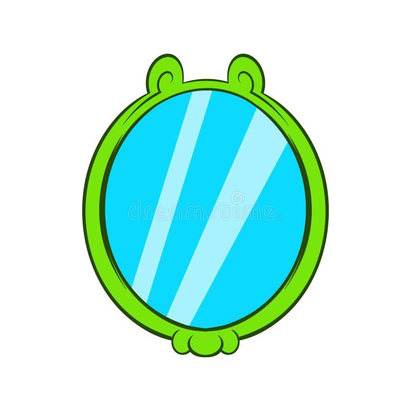 Ícone do espelho, estilo dos desenhos animados ilustração royalty free
