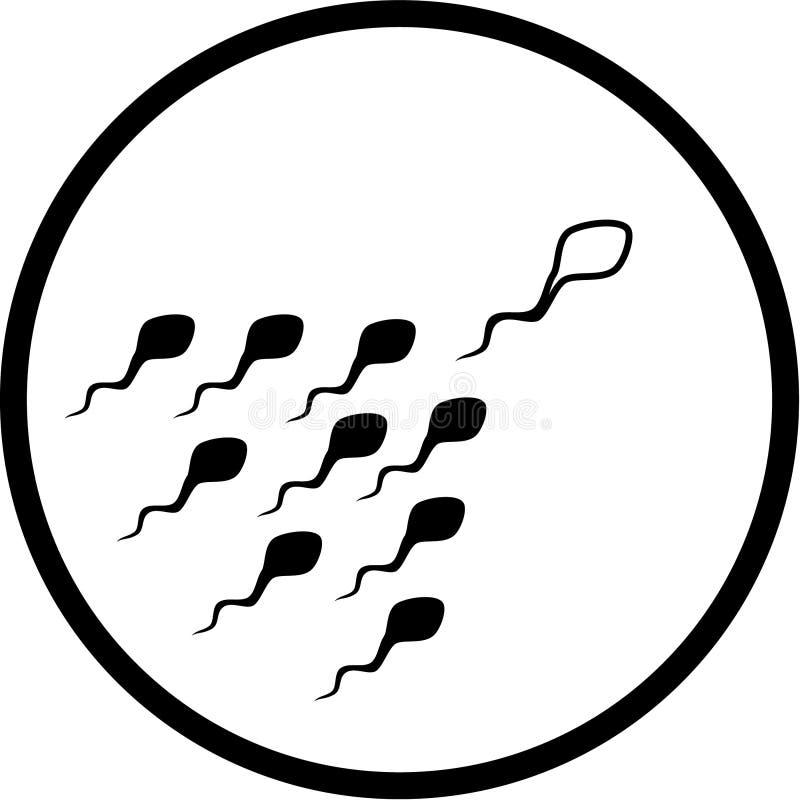 Ícone do espermatozóide do vetor ilustração do vetor