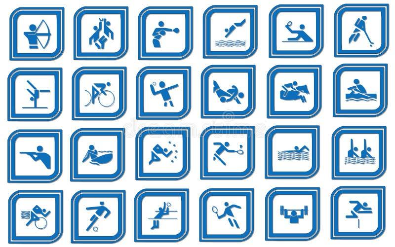 Ícone do esporte ilustração royalty free