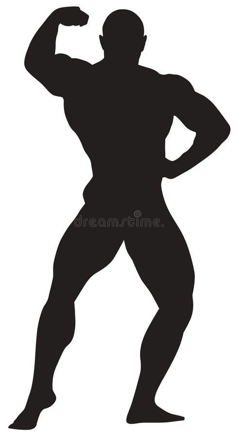 Ícone do esporte do bodybuilding ilustração do vetor