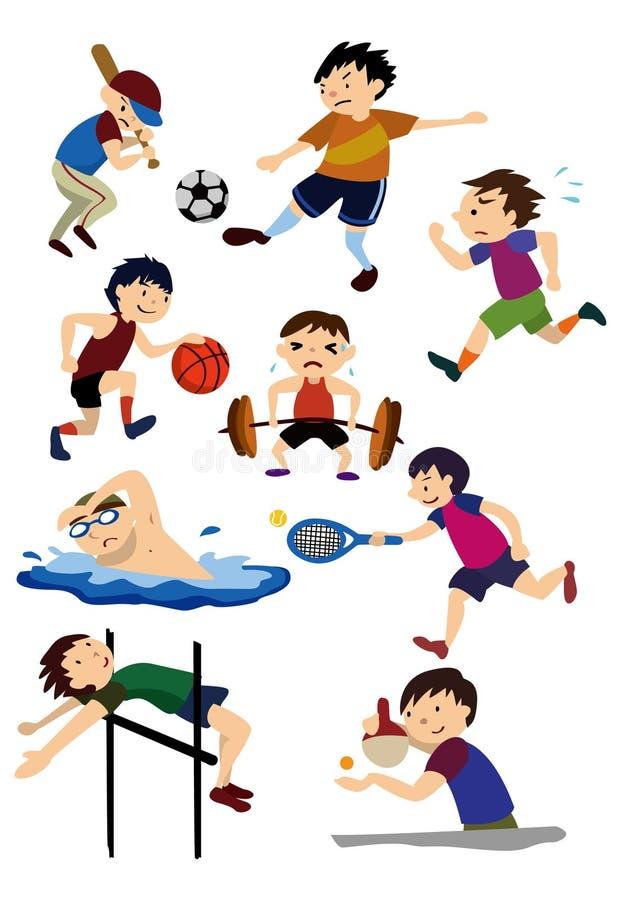 Ícone do esporte dos desenhos animados ilustração royalty free