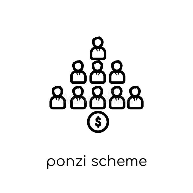 Ícone do esquema de Ponzi  ilustração royalty free
