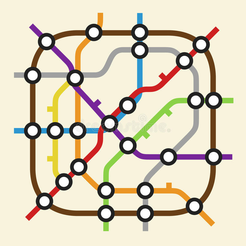 Ícone do esquema do metro ilustração royalty free