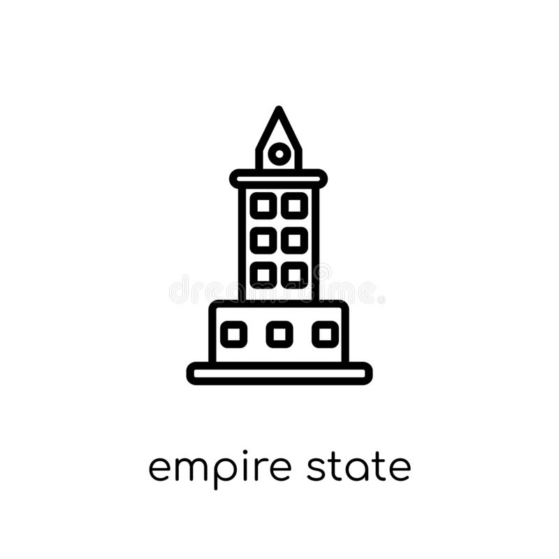 Ícone do estado do império Estado linear liso moderno na moda do império do vetor ilustração stock