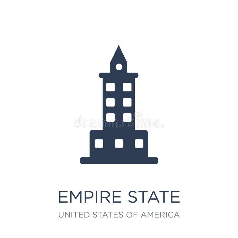 Ícone do estado do império Ícone liso na moda do estado do império do vetor no branco ilustração royalty free
