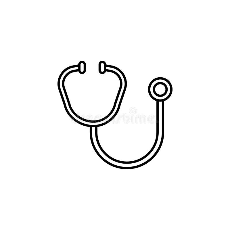 Ícone do estetoscópio Elemento do ícone da doação de sangue para apps móveis do conceito e da Web A linha fina ícone do estetoscó ilustração royalty free