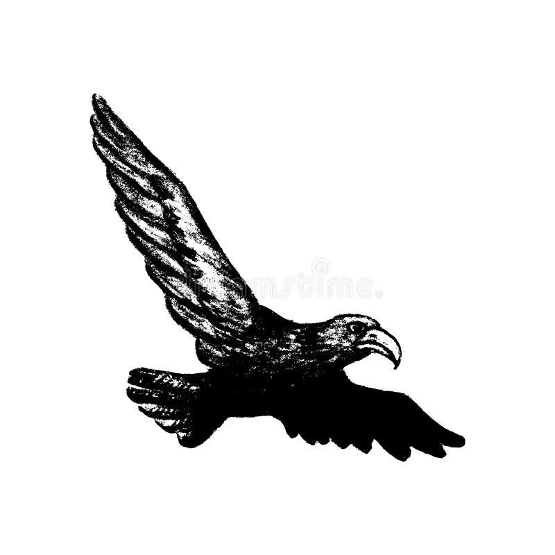 Ícone do estilo do grunge de Eagle ilustração stock