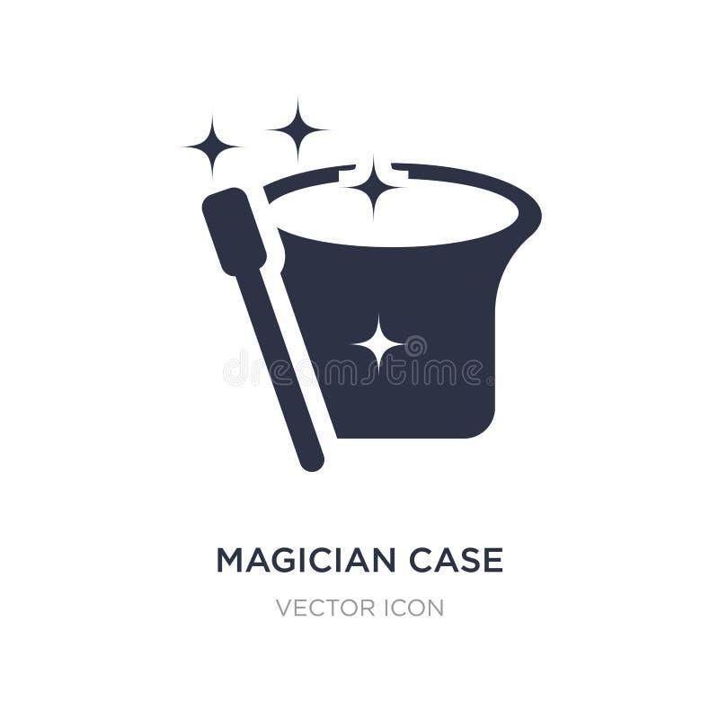 ícone do exemplo do mágico no fundo branco Ilustração simples do elemento do conceito do partido ilustração do vetor