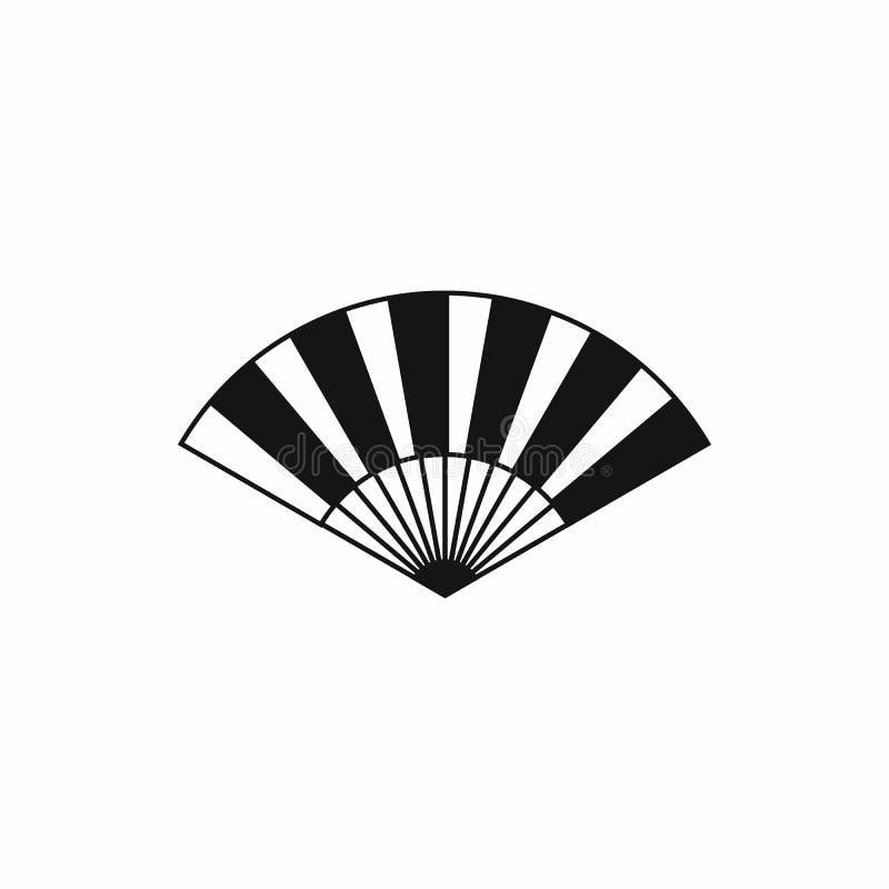 Ícone do fã, estilo simples ilustração do vetor
