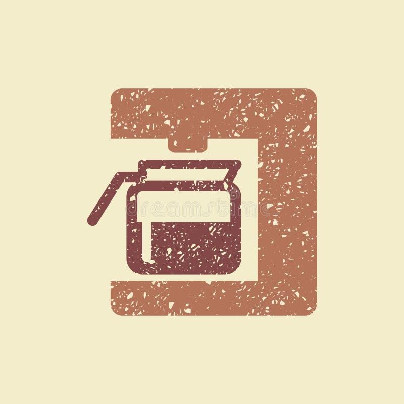 Ícone do fabricante de café ilustração royalty free
