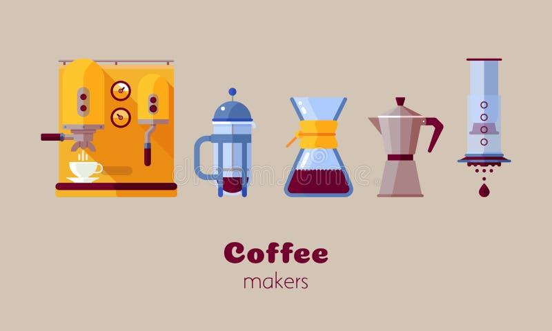Ícone do fabricante de café ilustração do vetor