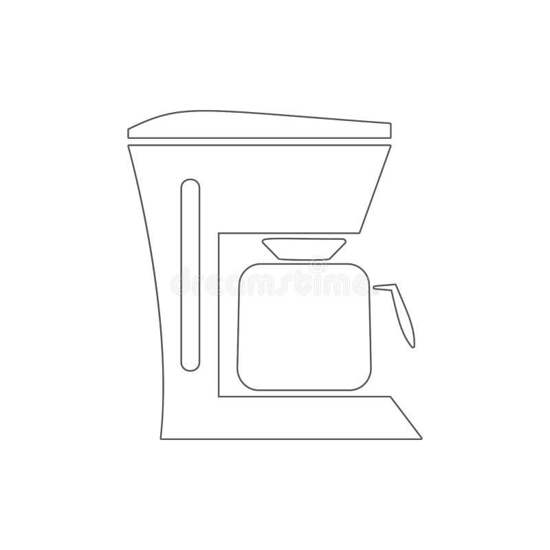 Ícone do fabricante de café Elemento do eletro para o conceito e o ícone móveis dos apps da Web Linha fina ícone para o projeto d ilustração do vetor