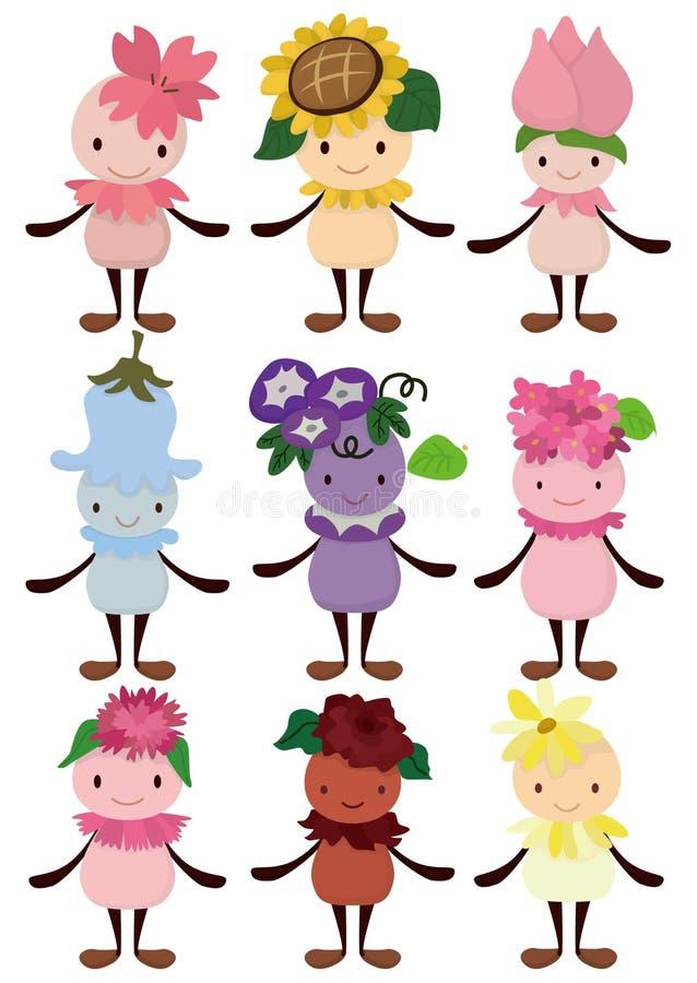 Ícone do fairy da flor dos desenhos animados ilustração royalty free