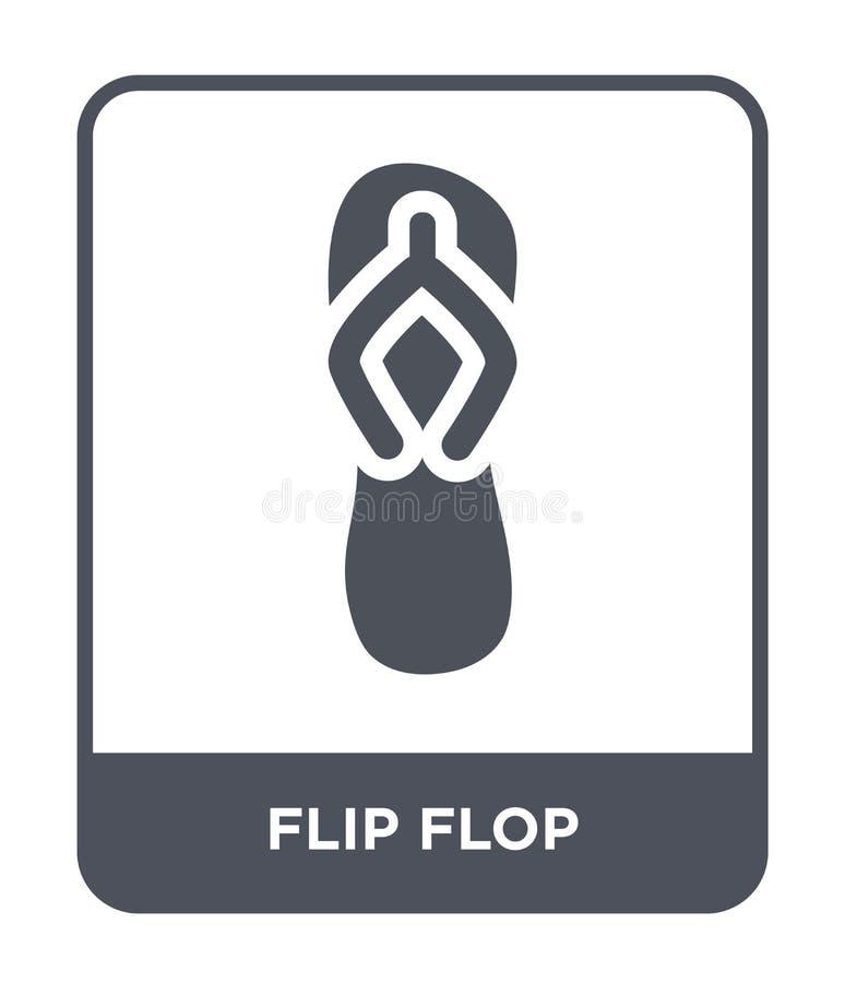ícone do falhanço de aleta no estilo na moda do projeto ícone do falhanço de aleta isolado no fundo branco plano simples e modern ilustração stock