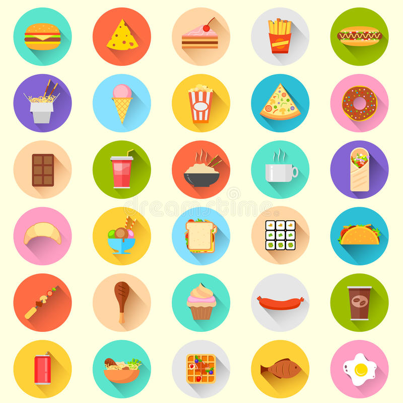 Ícone do fast food ilustração do vetor
