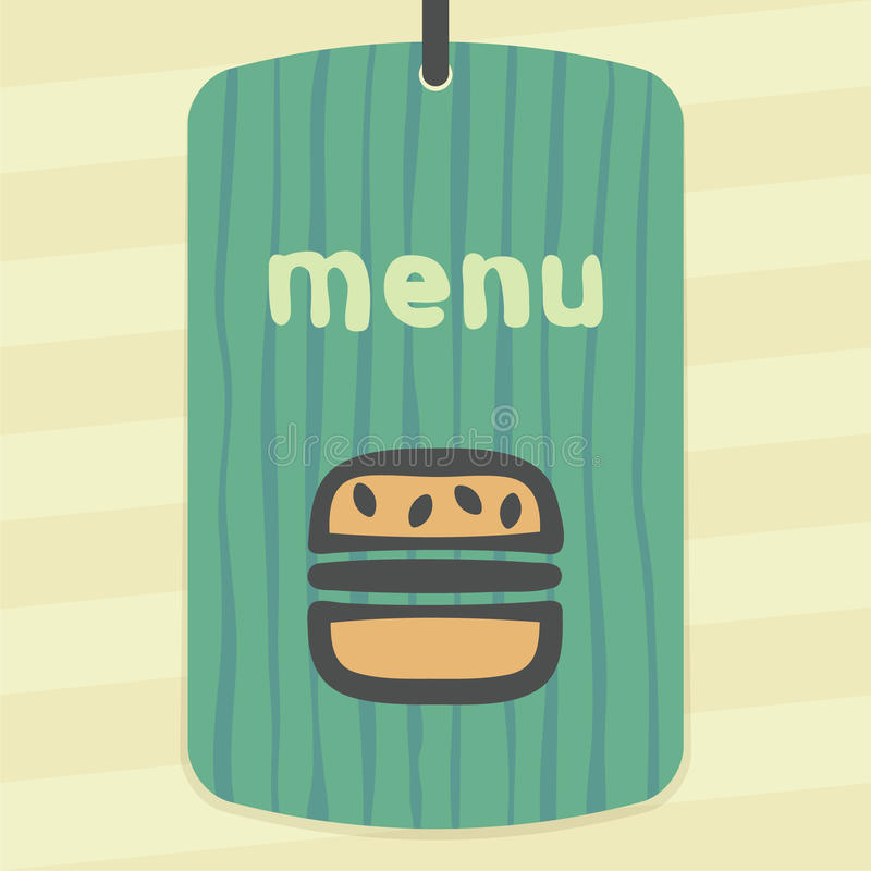 Ícone do fast food do Hamburger do esboço do vetor Logotipo infographic moderno e pictograma ilustração royalty free