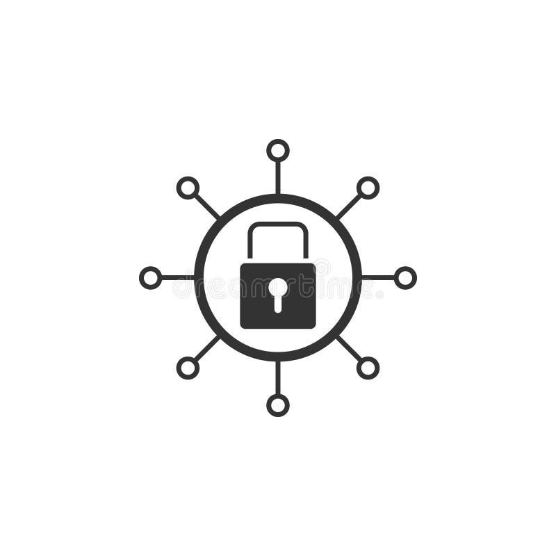 Ícone do fechamento da rede Elemento do ícone da segurança do Internet para apps móveis do conceito e da Web O ícone detalhado do ilustração do vetor