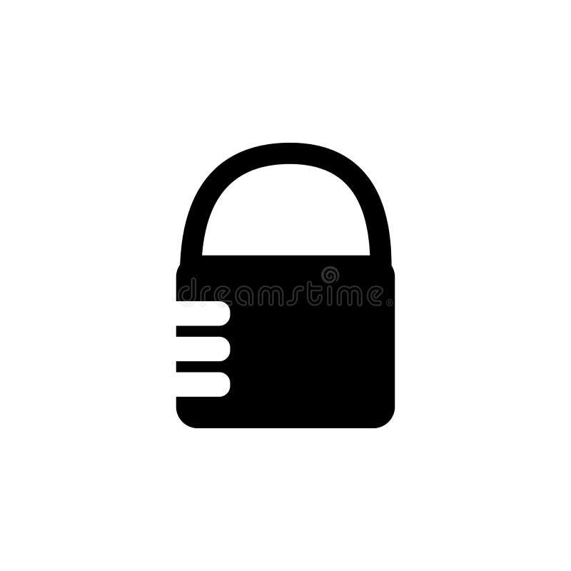 Ícone do fechamento de combinação Elemento do ícone simples para Web site, design web, app móvel, gráficos da informação Sinais e ilustração royalty free