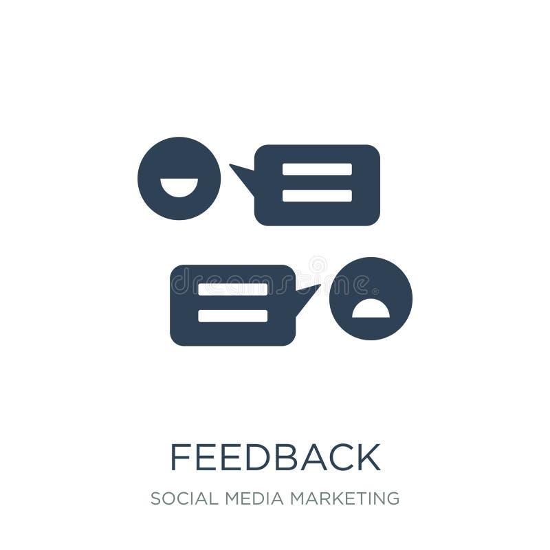 ícone do feedback no estilo na moda do projeto ícone do feedback isolado no fundo branco plano simples e moderno do ícone do veto ilustração royalty free