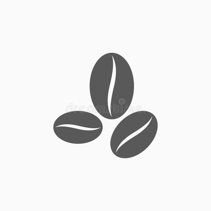 Ícone do feijão de café, café, bebida, bebida, cafeína ilustração do vetor