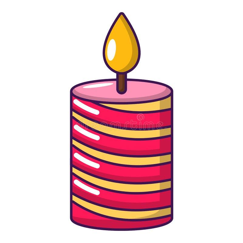 Ícone do feriado da vela, estilo dos desenhos animados ilustração royalty free