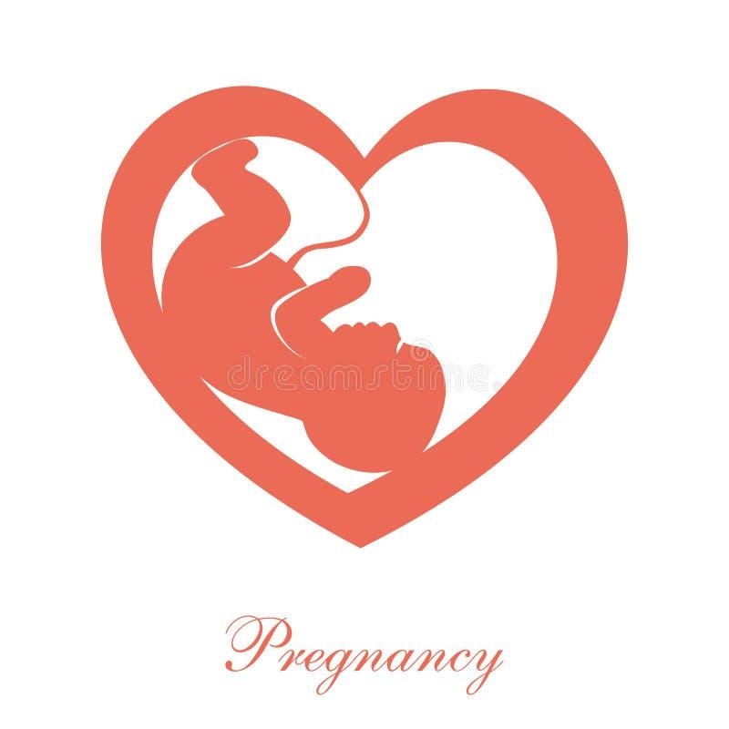 Ícone do feto ilustração royalty free