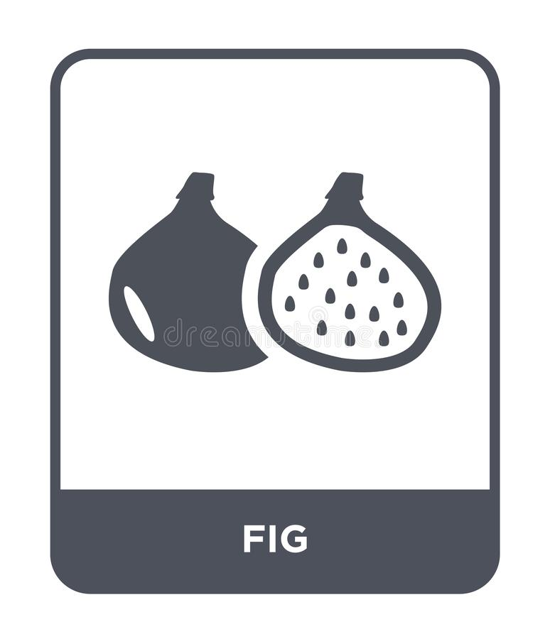 ícone do figo no estilo na moda do projeto ícone do figo isolado no fundo branco símbolo liso simples e moderno do ícone do vetor ilustração stock