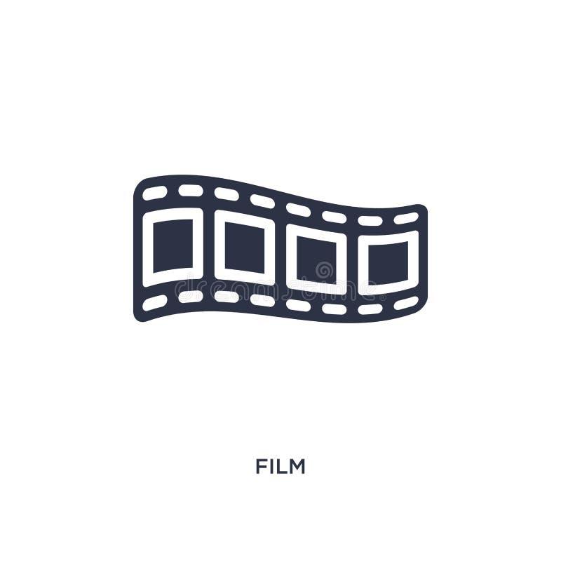 Ícone do filme no fundo branco Ilustração simples do elemento do conceito do cinema ilustração royalty free