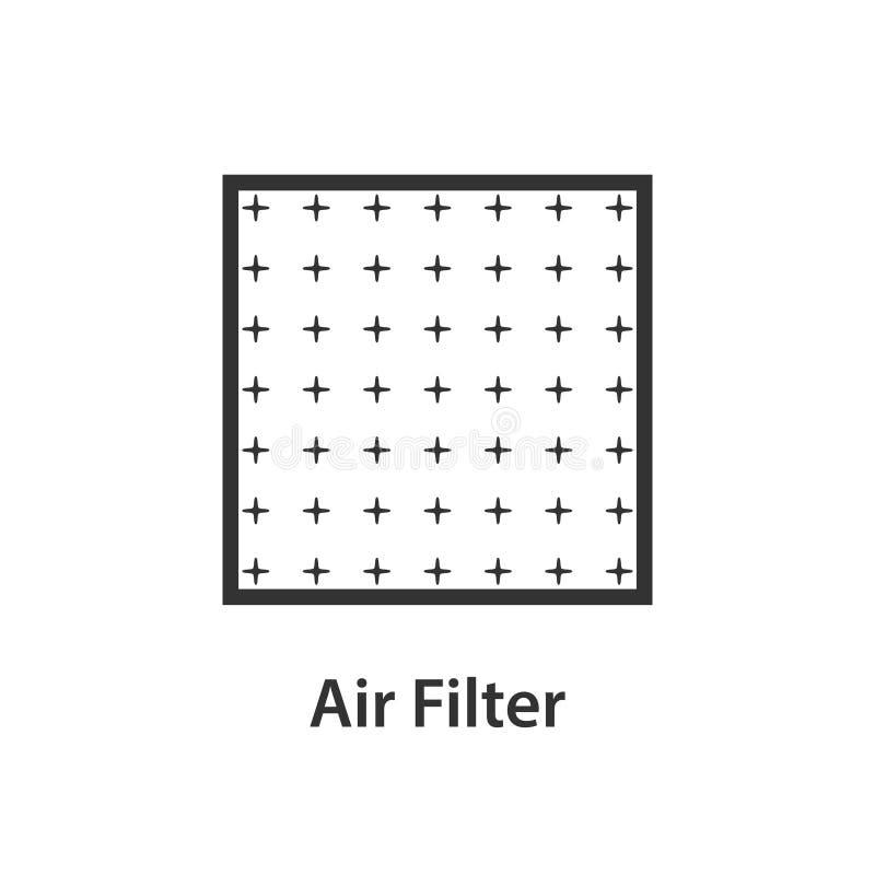 Ícone do filtro de ar ilustração royalty free