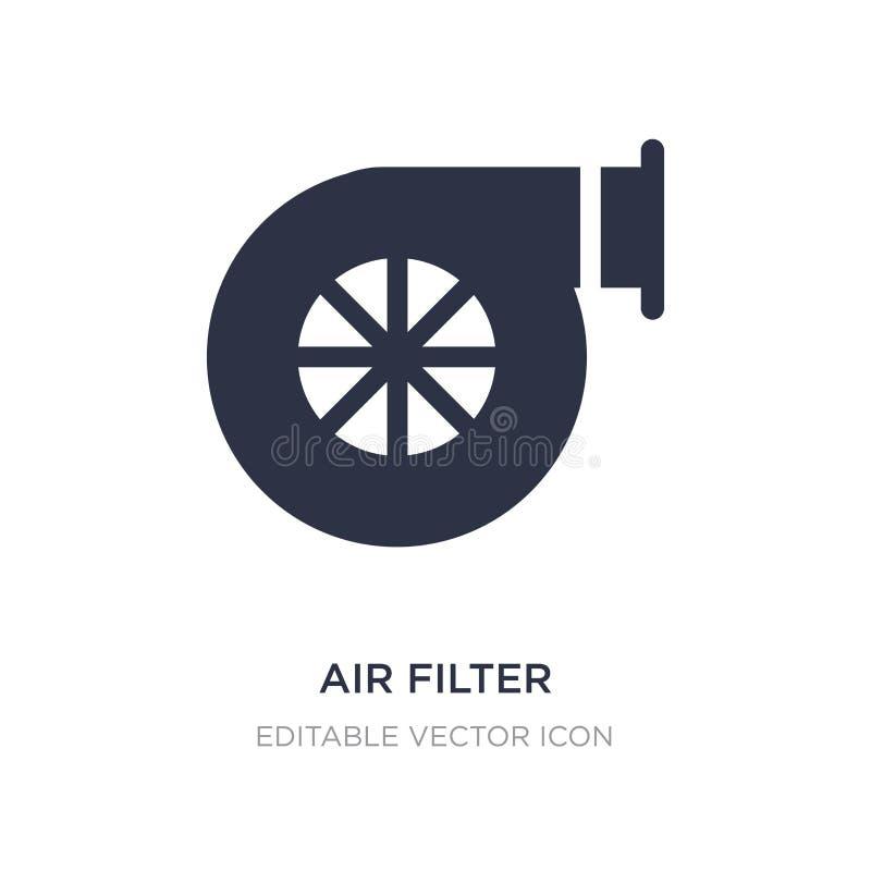 ícone do filtro de ar no fundo branco Ilustração simples do elemento do conceito do transporte ilustração do vetor