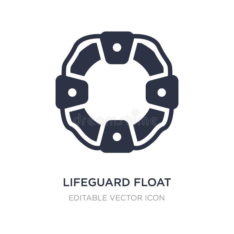 ícone do flutuador da salva-vidas no fundo branco Ilustração simples do elemento do conceito da segurança ilustração royalty free
