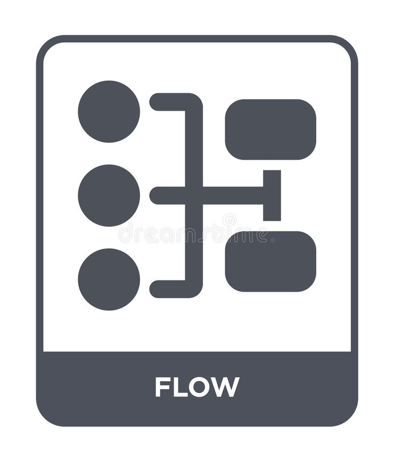ícone do fluxo no estilo na moda do projeto ícone do fluxo isolado no fundo branco símbolo liso simples e moderno do ícone do vet ilustração do vetor