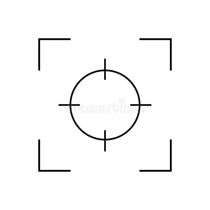 ?cone do foco, lente do foco - vetor ilustração stock