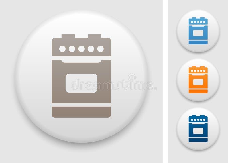 Ícone do fogão de cozinha ilustração stock