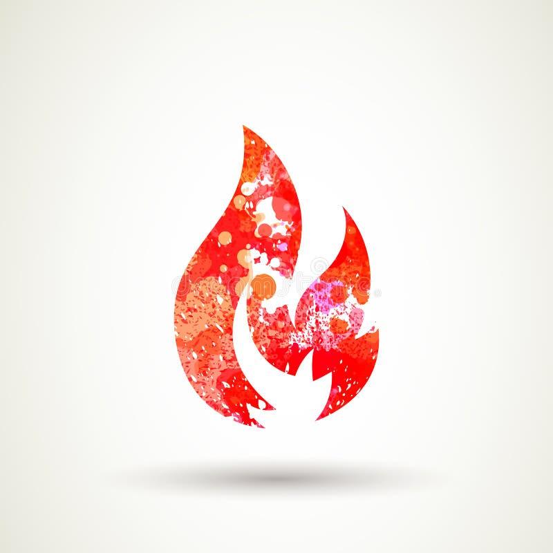 Ícone do fogo ilustração stock