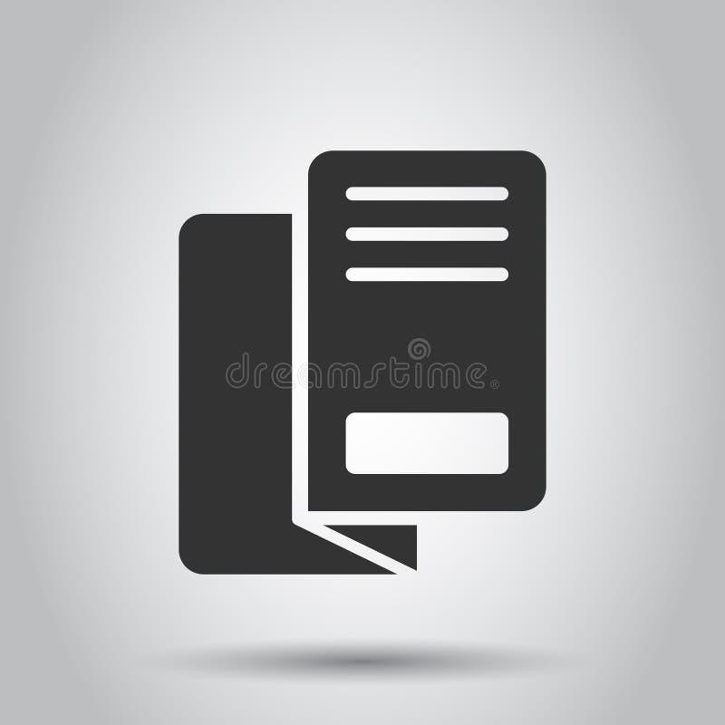 Ícone do folheto do inseto no estilo liso Ilustração do vetor da folha do folheto no fundo branco Conceito do negócio do inseto d ilustração do vetor