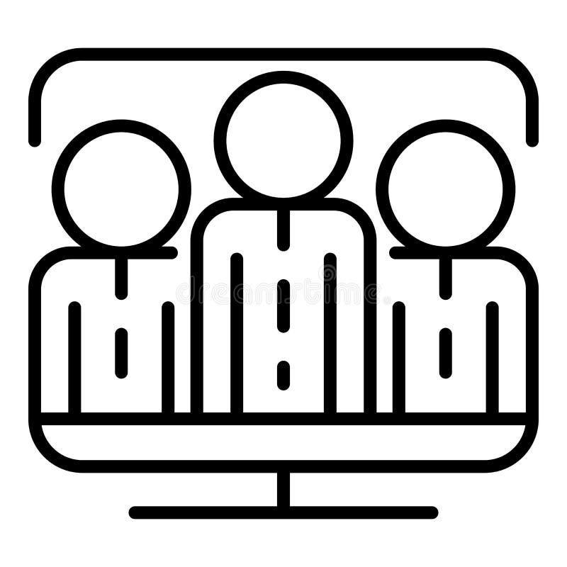 Ícone do folower de Vlog, estilo do esboço ilustração do vetor