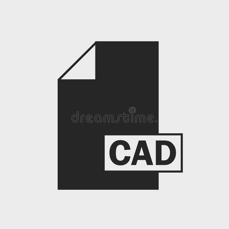 Ícone do formato de arquivo do CAD ilustração royalty free
