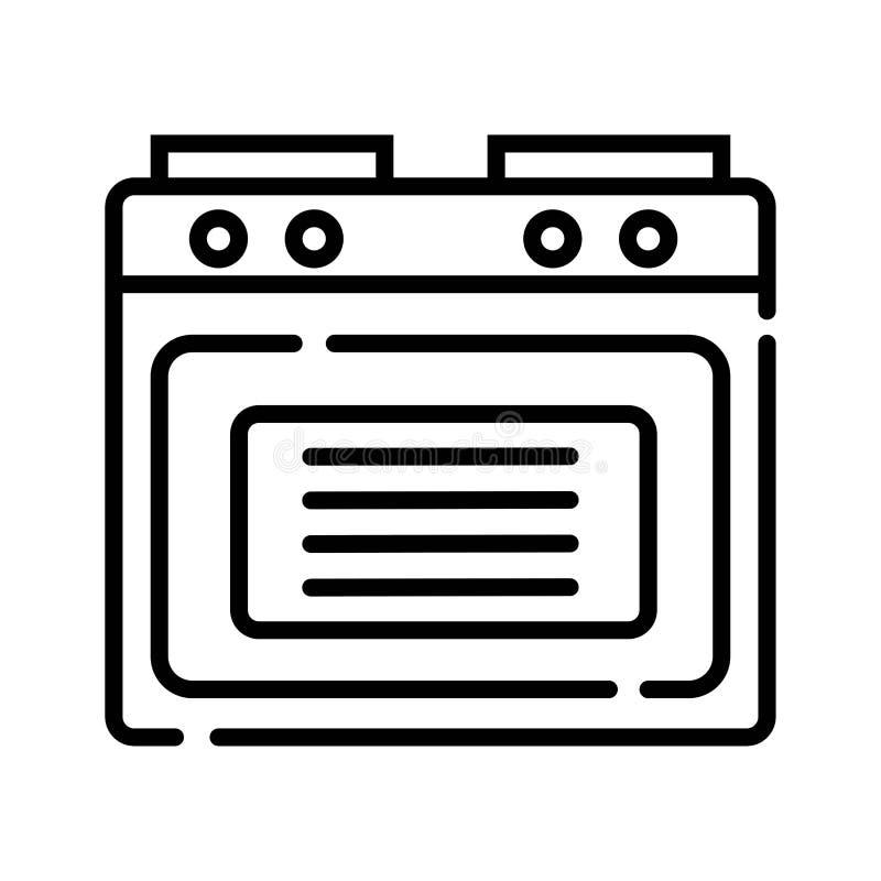 Ícone do forno vetor do forno ilustração do vetor
