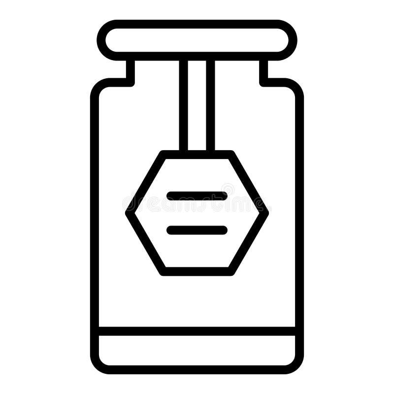 Ícone do frasco do doce da casa, estilo do esboço ilustração do vetor