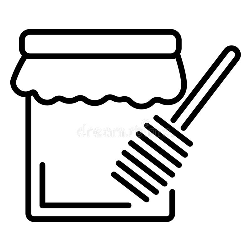 Ícone do frasco do mel do Hanukkah, estilo do esboço ilustração royalty free