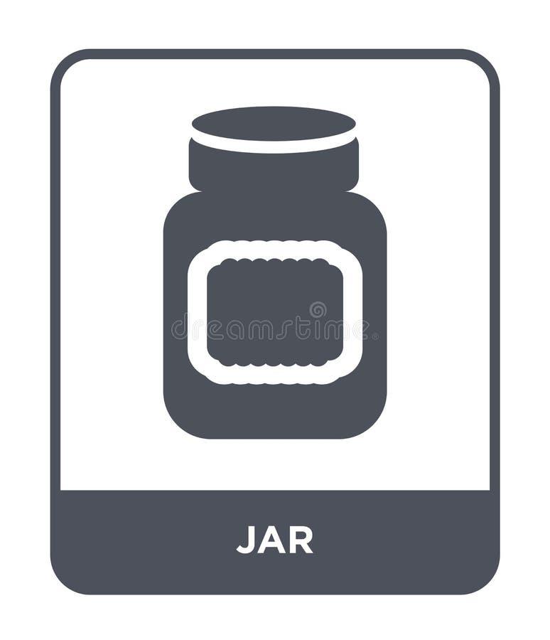 ícone do frasco no estilo na moda do projeto Ícone do frasco isolado no fundo branco símbolo liso simples e moderno do ícone do v ilustração stock