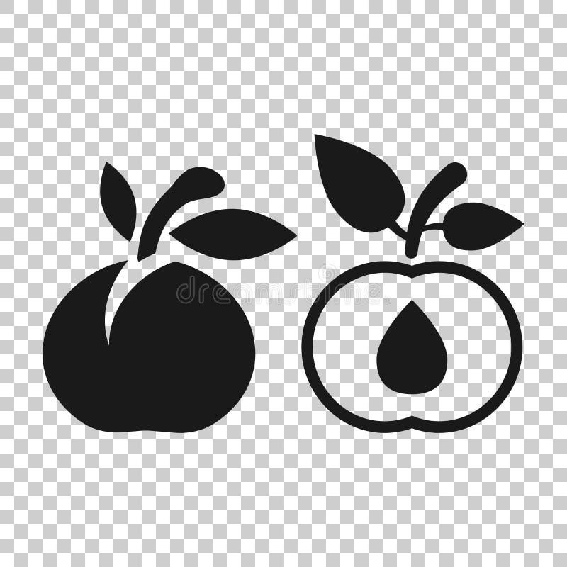 Ícone do fruto do abricó no estilo transparente Ilustração do vetor da sobremesa do pêssego no fundo isolado Negócio orgânico da  ilustração royalty free