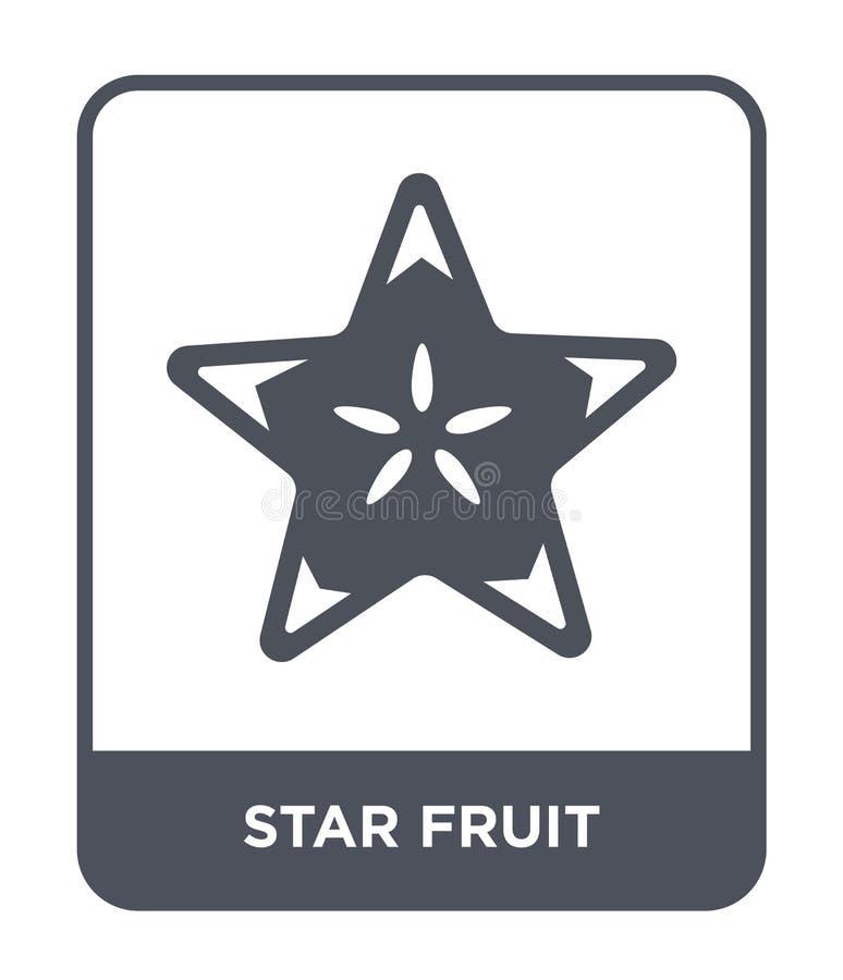 ícone do fruto de estrela no estilo na moda do projeto ícone do fruto de estrela isolado no fundo branco ícone do vetor do fruto  ilustração stock