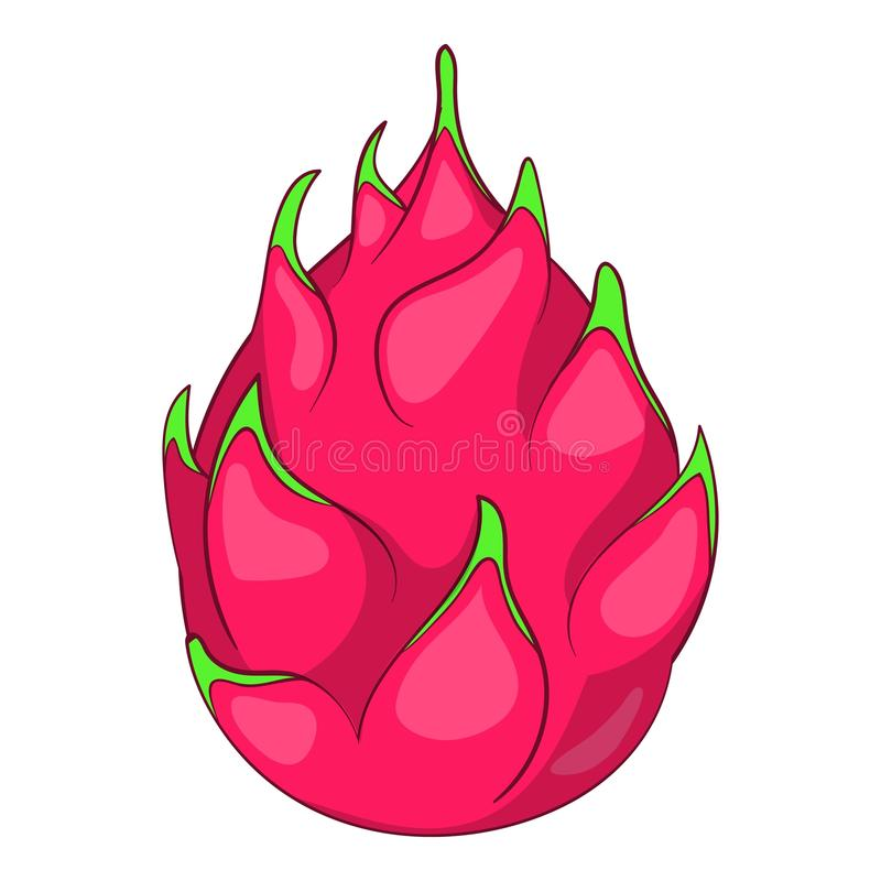 Ícone do fruto do dragão, estilo dos desenhos animados ilustração stock