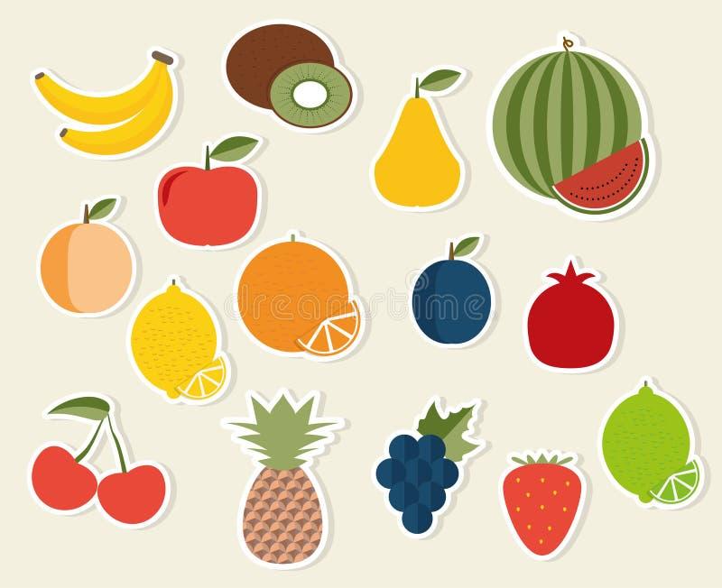 Ícone do fruto A imagem do símbolo dos frutos e das bagas ilustração stock